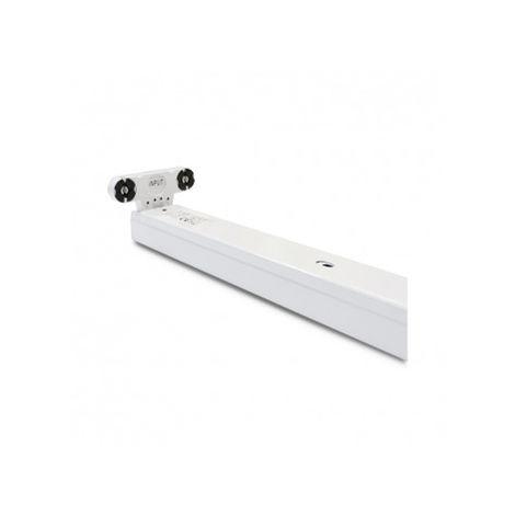Support Double Tube Led T8 1200MM - Phase/Neutre de même coté - vision-el