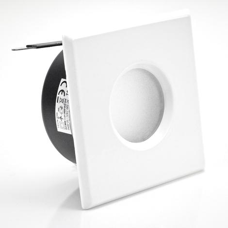 Support downlight carré blanc étanche IP65 Dim 83x83mm
