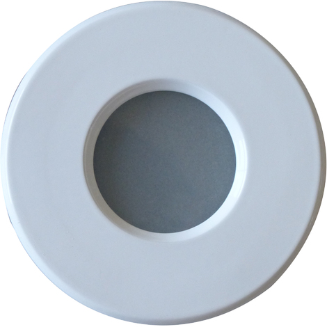 Support downlight rond blanc étanche IP65 Diam 83mm