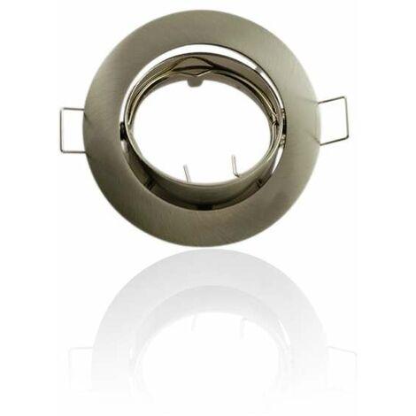 Support encastrable rond orientable Aluminium brossé