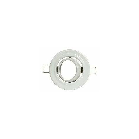 Support encastrement spot LED orientable metal blanc