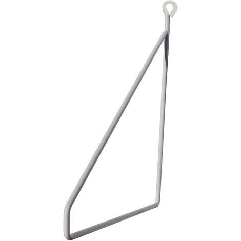 Support étagère métal blanc Linea 19