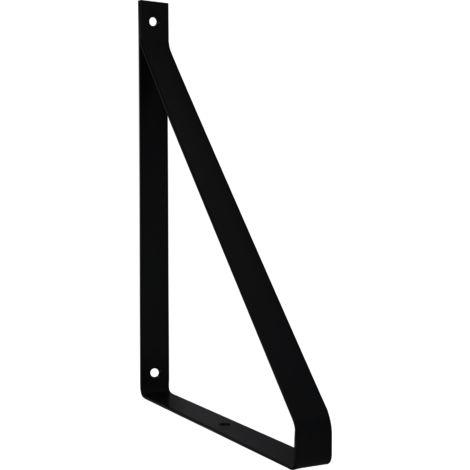 Support étagère métal noir Cali 19