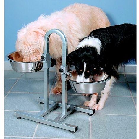 Support gamelles pour chiens - hauteurs réglables séparément Désignation : Support gamelles - hauteurs réglables séparément   Type : Avec gamelles MORIN 2497