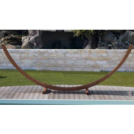 Support hamac arc meleze fsc (sans toile) - Naturel