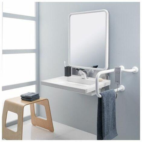 Support lavabo PMR à hauteur réglable électrique
