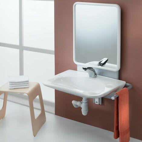 Support lavabo PMR à hauteur réglable manuelle