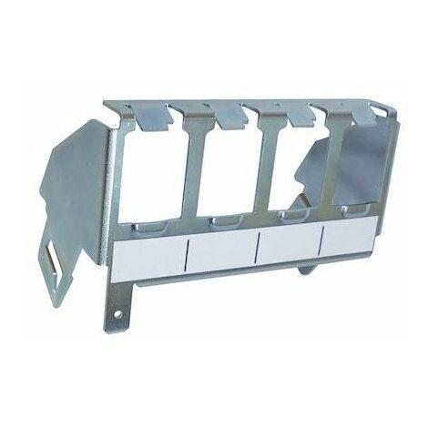 Support métal pour 4 connecteurs RJ45 - Fixation rail DIN