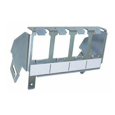 Support métal pour 4 connecteurs RJ45 - Fixation sur plastron coffret de communication