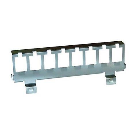 Support métal pour 8 connecteurs RJ45 - Fixation rail DIN