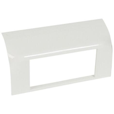 Support Mosaic 4 modules pour pose sur plinthe DLP 140x35mm blanc (031671)