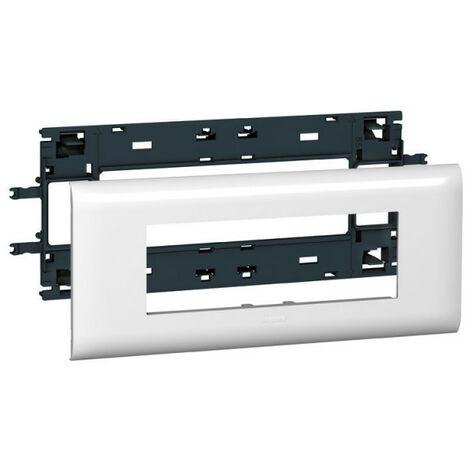 Support Mosaic 6 modules pour goulotte DLP monobloc avec couvercle 85mm (010996)