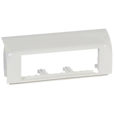 Support Mosaic 6 modules pour pose sur plinthe DLP 140x35mm blanc (031672)