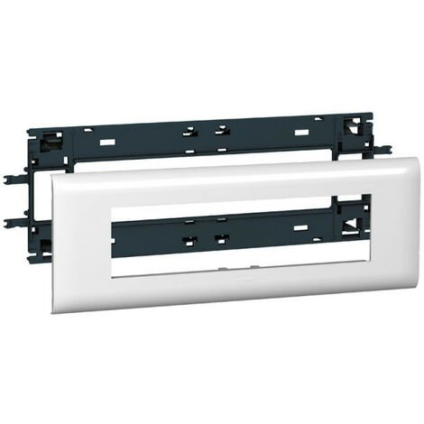 Support Mosaic 8 modules pour goulotte DLP monobloc avec couvercle 85mm (010998)