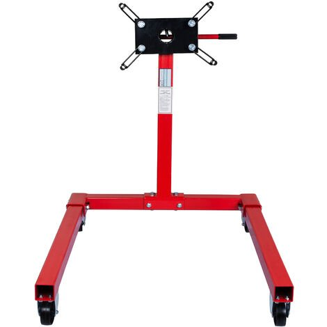 Support moteur sur roulette rotatif 570 kg pour garage lève-moteurs de garage