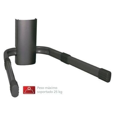 Support mural Fonestar pour DVD / DVB-T en noir avec cache-câble, poids maximum 25 kg supporté.