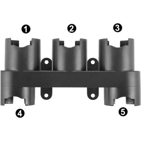 Support mural modèles d'aspirateurs à main pour aspirateur Dyson V7, V8, V10 Étagère de rangement pour aspirateur Support 5 trous pour Dyson