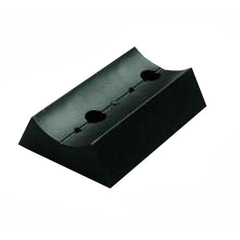 Support Novalux pour la fixation sur un pieu noir A551NE