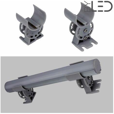 Support orientable pour profilé LED tube - la paire (T01)