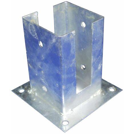Support - Pied à fixer pour poteau Rainuré 7x7 cm