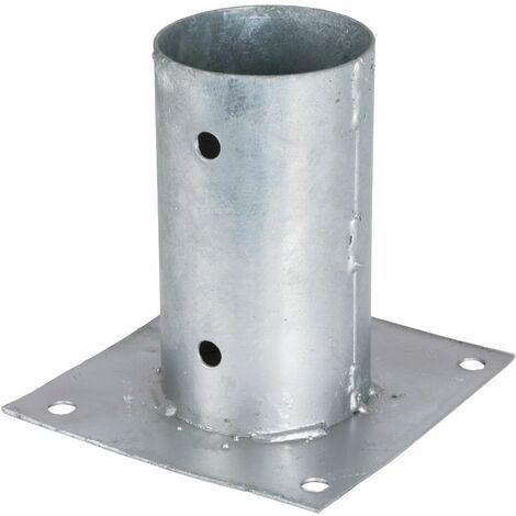 Support - Pied à fixer pour poteau rond Ø 8 cm