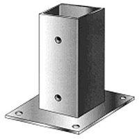 Support pied de poteau bois 140x140 / 14x14 à fixer galvanisé à chaud