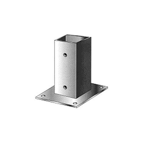 Support pied de poteau bois 90x90 / 9x9 à fixer galvanisé à chaud