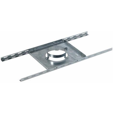 Support plancher galva pour double paroi isolé O125-180