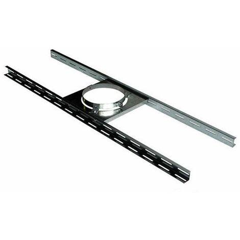 Support plancher pour poêle à granulés - PGI pour poêles à Pellets - Diamètre 80/130 - Réf : SP