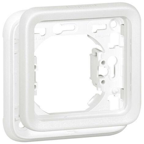 """main image of """"Support plaque 1 poste Plexo composable IP55 blanc Artic antimicrobien (070792)"""""""