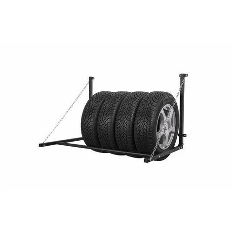 Support pneus mural Capacité 90Kg - extensible