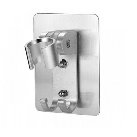 Support Pommeau Douche, Accroche Douchette Orientable Support Mural Fixation Douche Adhesif(silver)