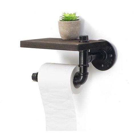 Support Porte-papier Toilette Rouleau Salle de Bain Mural Distributeur UK Sasicare