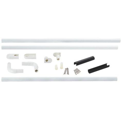 Support porte rideau d'angle - universelle - Ø 25 mm - Bossini
