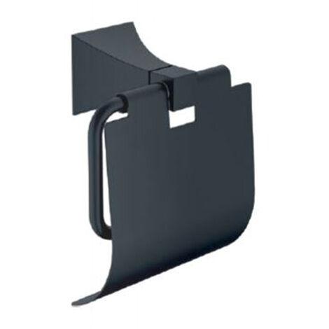 Support porte rouleau wc noir