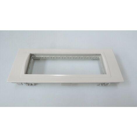 Support pour appareillage 3 postes blanc polaire 185x73x28mm pour appareillage UNICA OptiLine SCHNEIDER ELECTRIC ISM15202P