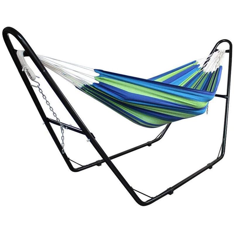 Yongqing - Support pour fauteuil suspendu 280*95*115cm   Soutien pour accrocher balancelle et chaises suspendues   en Acier couleur Noir   Poids max