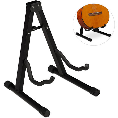 Support pour guitare acoustique, électronique, pliable, revêtement mousse, pieds en caoutchouc, stable,37x29x3