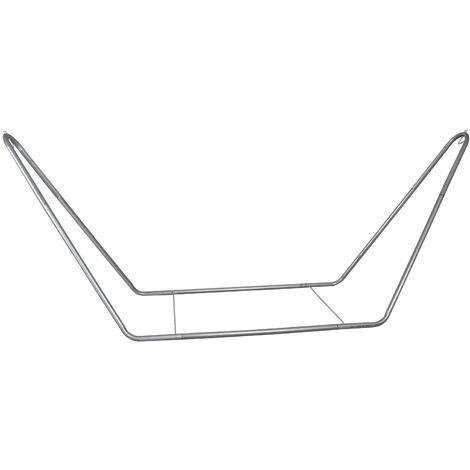 Support pour hamac en métal finition zinc - Finition zinc