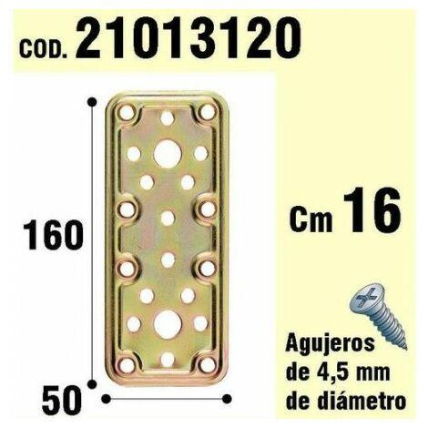 "main image of ""Support pour madera plaque bichromée 50x160 mm."""