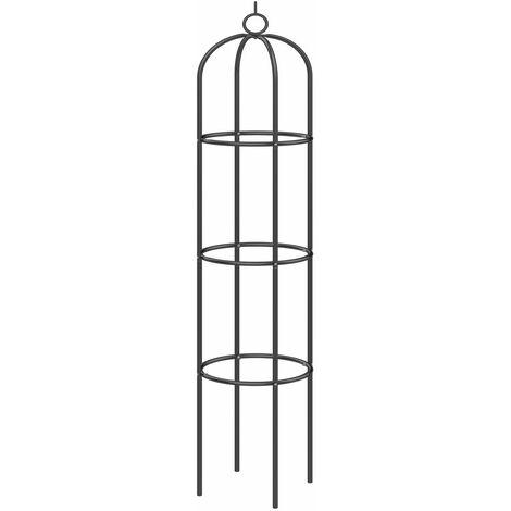 Support pour plantes grimpantes noir en métal Décoration extérieure fête jardin fleurs - Modèle au choix