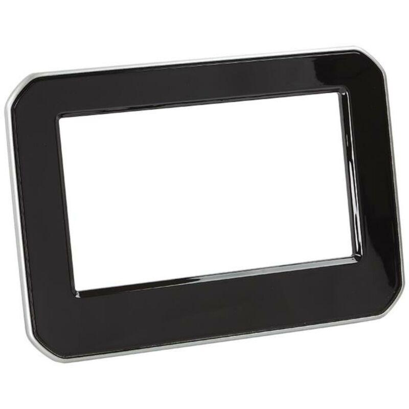 Support Autoradio compatible avec Suzuki Ignis - Noir brillant contour argent