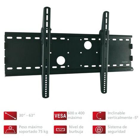 Support pour TV Fonestar Plafond réglable en hauteur jusqu'à 156 cm, couleur noire, supports jusqu'à 60 Kg