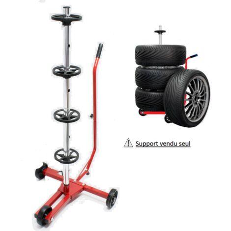 Support rangement porte roue voiture en métal