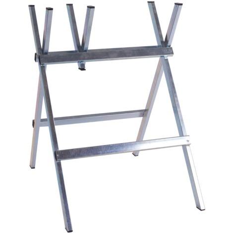 Support rectangulaire pour coupe de bois en acier galvanisé 40x20 mm 119045