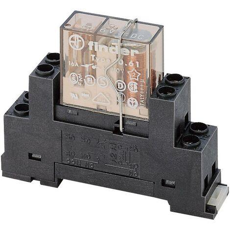 Support relais Finder 95.65M 95.65M (L x l x h) 15.6 x 63.1 x 33.3 mm 1 pc(s)