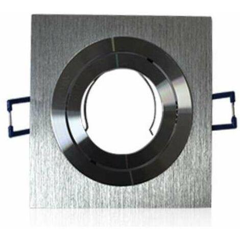 Support spot carré encastrable orientable aluminium