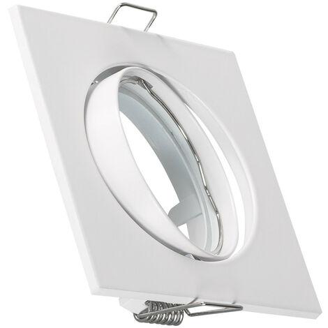 Support Spot Carré Orientable pour Ampoule GU10/GU5.3