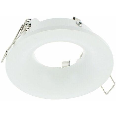 Support Spot Curvé LED étanche IP65 Fixe Rond Blanc MILOS