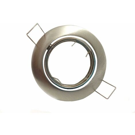 Support Spot Encastrable GU10 LED Orientable Rond INOX - Aluminium